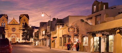 santa fe, new mexico - downtown
